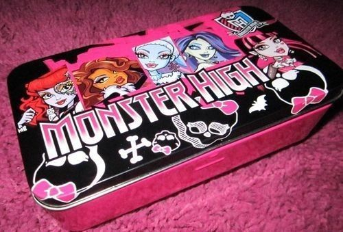 Monster High Tin Pencil Case Box For Accessories, School Supplies, Jewelry NEW