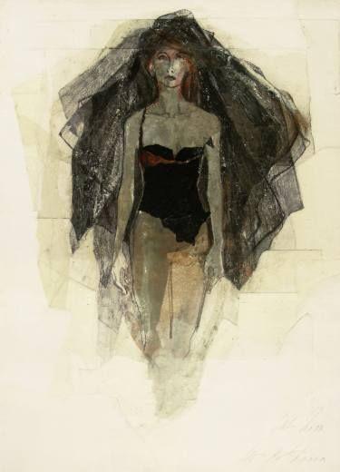 "Saatchi Art Artist Ute Rathmann; Drawing, ""Hommage à René Gruau I"" #art"