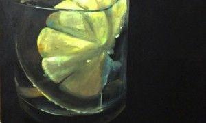 """PINTURA-  César Rodríguez. En su curriculum cuenta con infinidad de exposiciones indivuales y colectivas desde el año 1993 y ha sido premiado en diferentes concursos de pintura y diseño. Imagen de la exposición """"Gin-tónic, reflejo de un solo instante"""""""