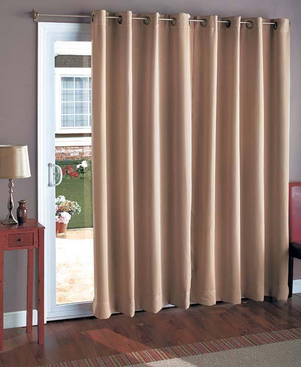 Wide Patio Door Curtain 112w X 84l Sliding Door Drapes Blackout