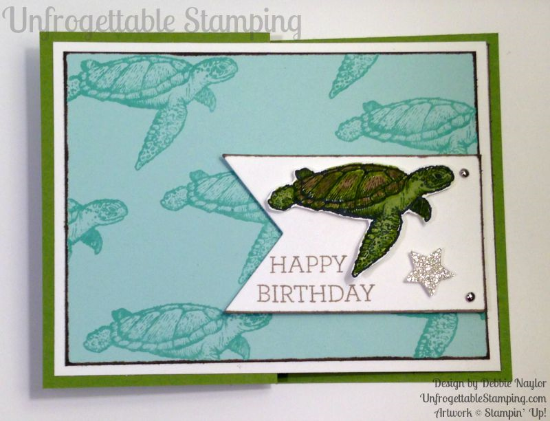 Stampin up from land to sea fabulous sea turtle masculine stampin up from land to sea fabulous sea turtle masculine birthday card bookmarktalkfo Images