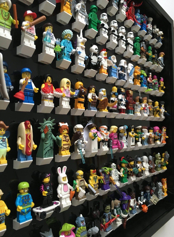 105 Lego Minifigures black edition black frame display | Pinterest