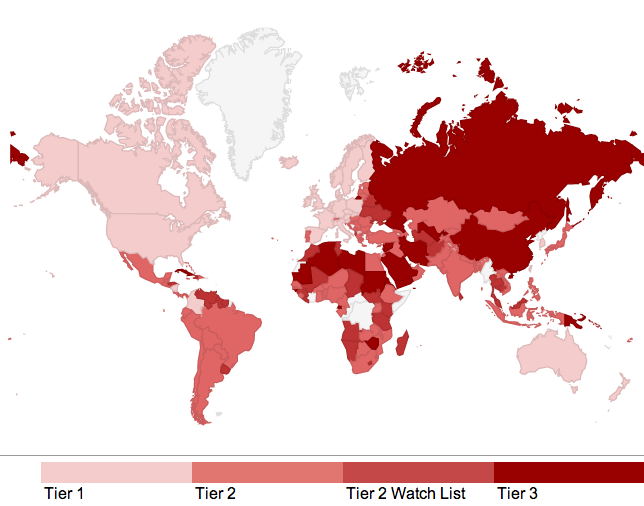 A Fascinating Map of the Worst Countries for Modern Slavery