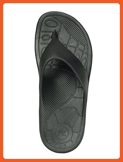 Lynco Black Flip Sandals By Aetrex Includes Bonus Plantar Fasciitis Relief Roller Womens Size -3102