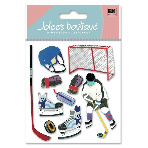 Jolee S Boutique Hockey Stickers 4 39 With Images Scrapbooking Sports Stickers Hockey