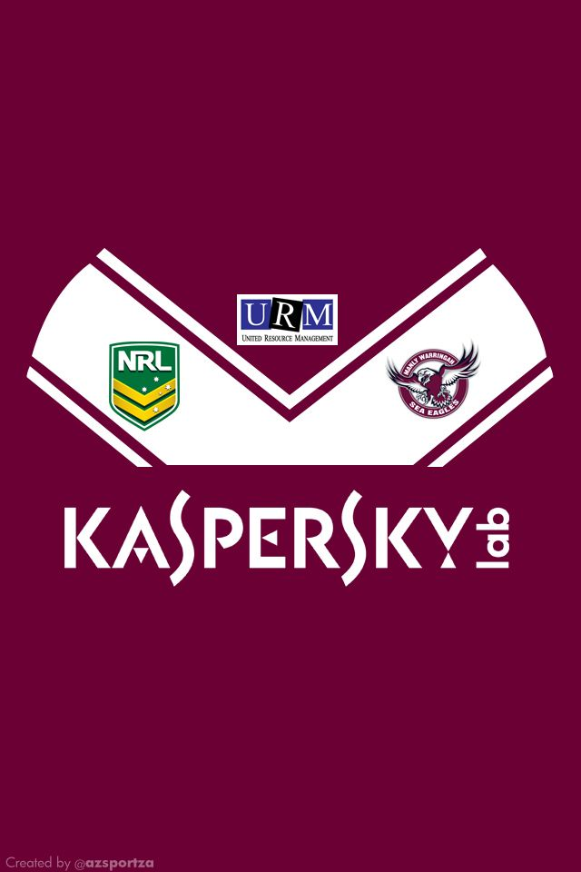 Manly Sea Eagles 2013 NRL Home Jersey Wallpaper (iPhone 4/4S | Nrl, Manly, Eagles