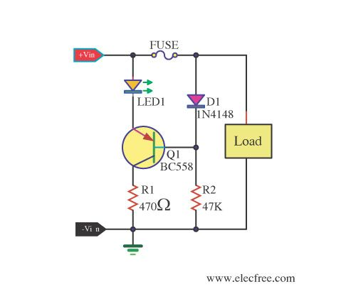 blown fuse indicator circuit with led display automotive rh pinterest com Blown House Fuse Purpose Blown Fuse Plastic