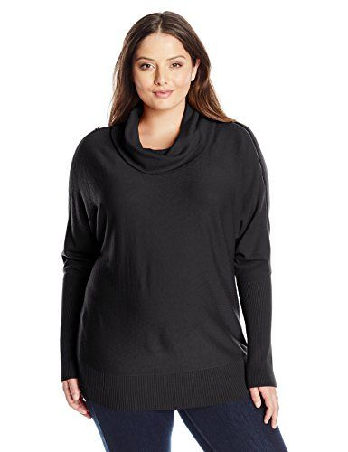 DKNYC Women's Plus-Size Cowlneck Zippered Coldshoulder Tunic  http://www.effyourbeautystandarts.com/dknyc-womens-plus-size-cowlneck-zippered-coldshoulder-tunic/