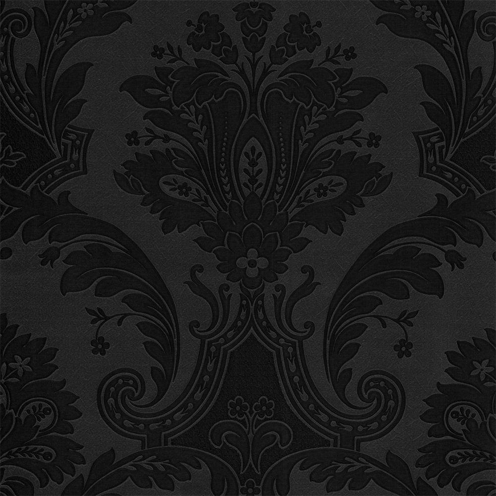 Black Damask Wallpaper Designer Designer Damask Wallpaper Black On Black Plain Black Wallpaper Dark Black Wallpaper Velvet Wallpaper