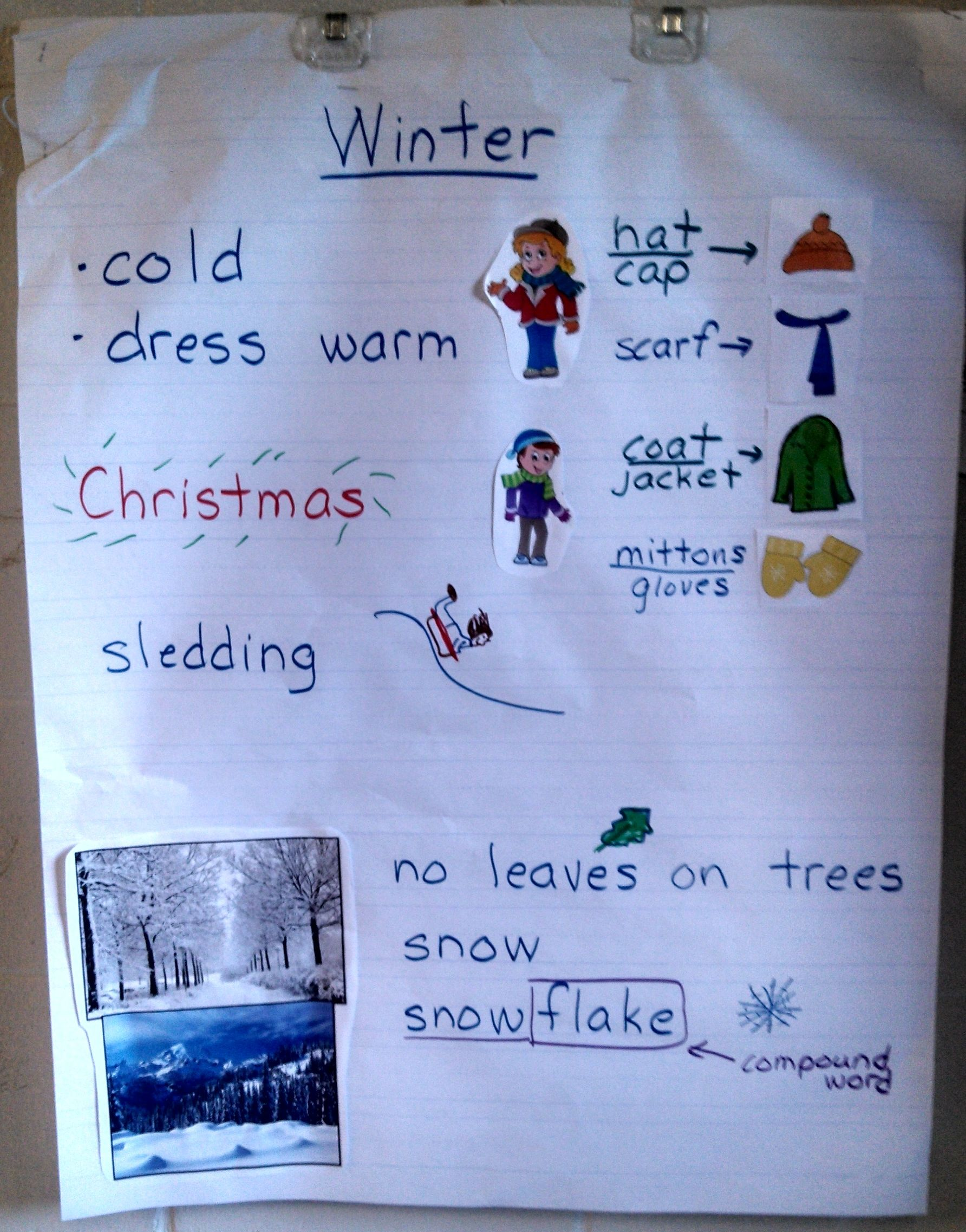 Winter Anchor Chart