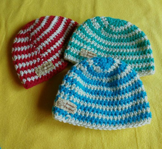 Check out this item in my Etsy shop https://www.etsy.com/listing/275749764/baby-beanies-red-green-blue