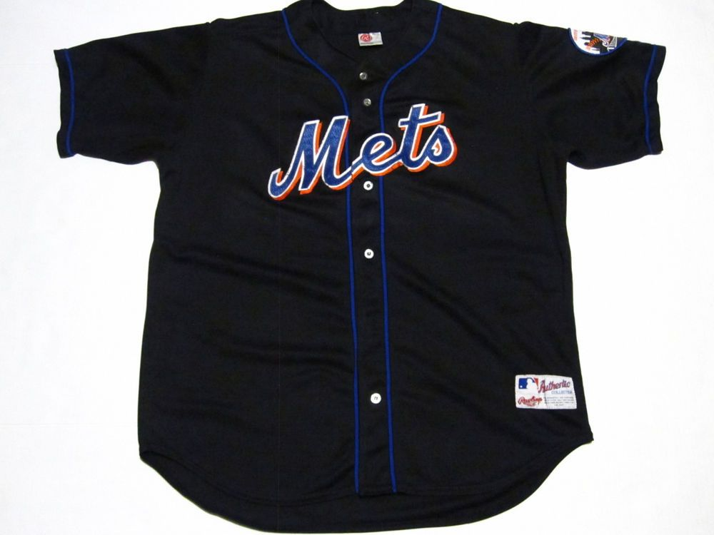 detailed look 031eb 7e1c0 rawlings new york mets baseball jersey mens size 52   eBay ...