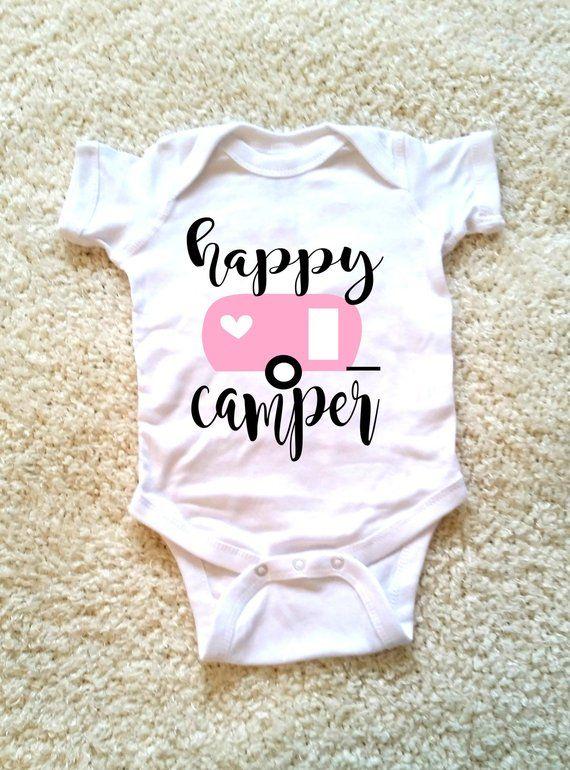Happy camper baby onepiece, newborn, 6 months, 12 months, 18
