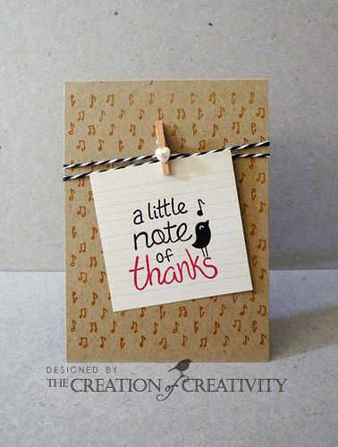 Note Of Thanks Card Making Thank U Cards Thanks Card