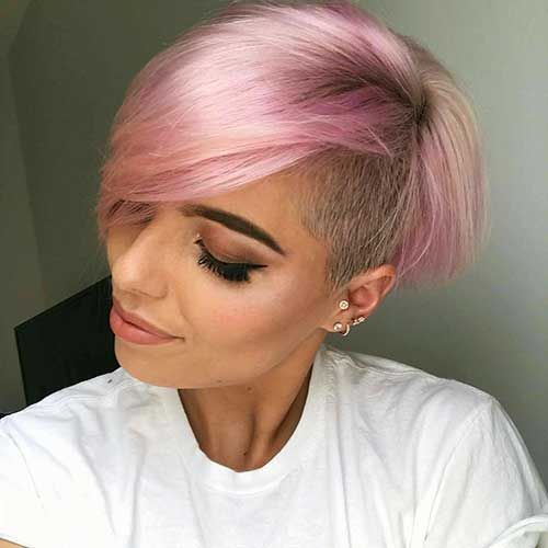 Totally Adorable Pink Colored Short Hairstyles We Love