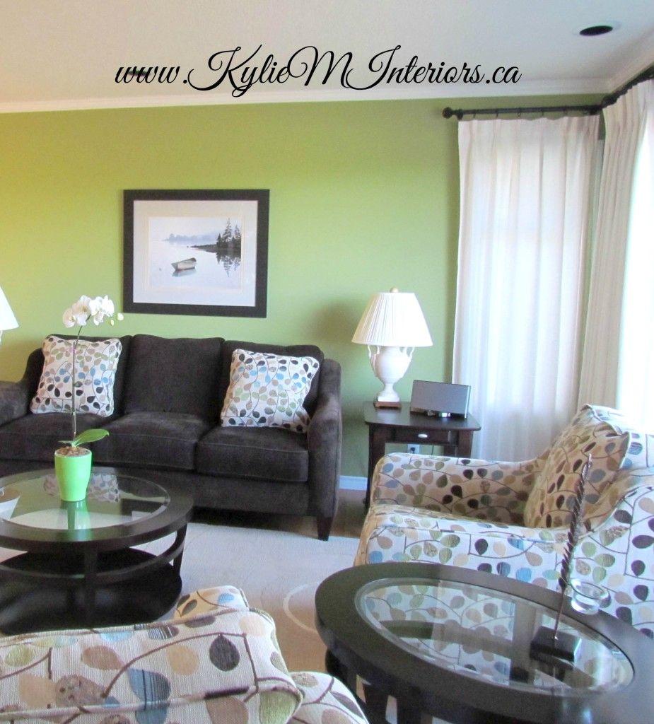 Cream Brown Plum Living Room