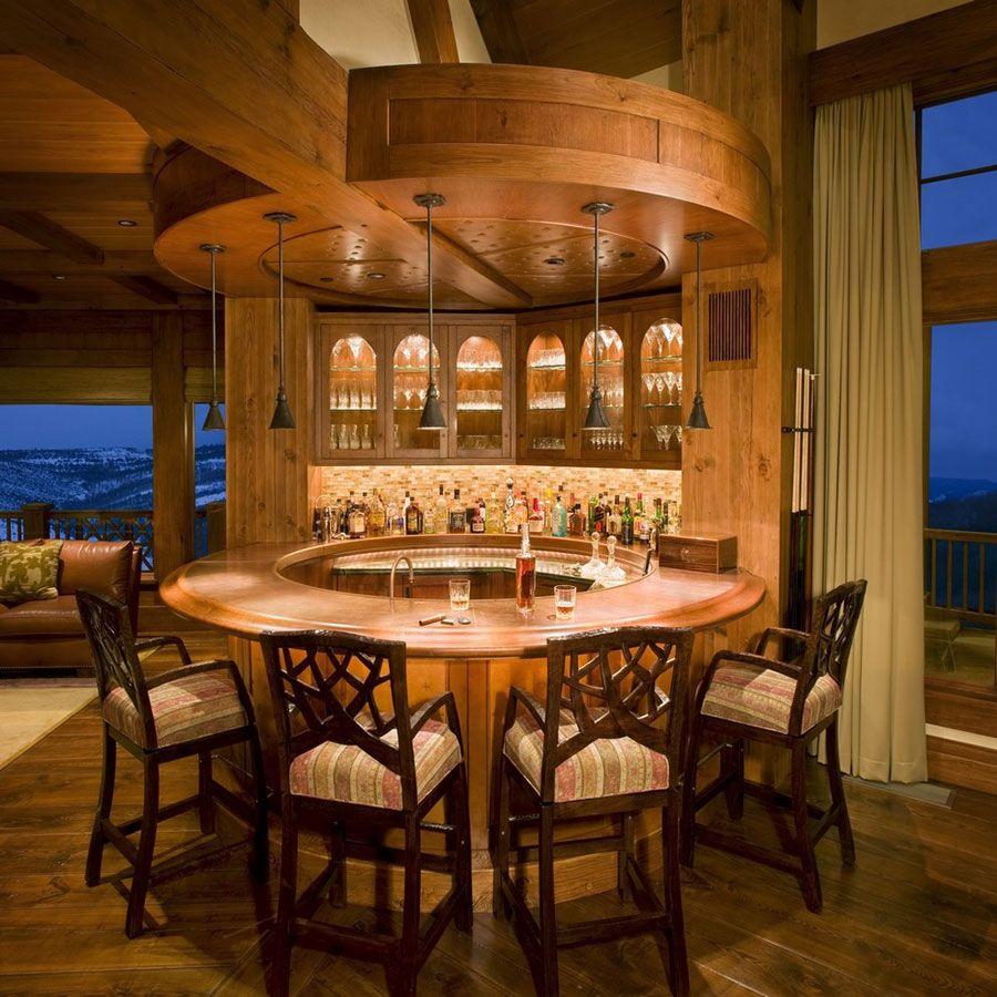 16 Esempi di Angolo Bar in Casa con Arredamento Rustico ...