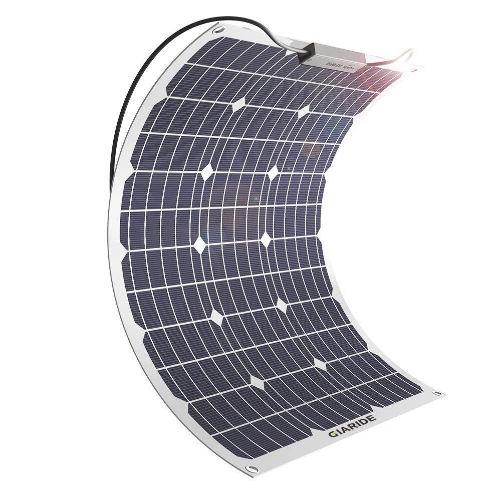 GIARIDE 50W 18V 12V Solar Panel Monocrystalline Cell
