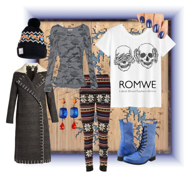 """Romwe Skeletons"" by rainheartcreations ❤ liked on Polyvore featuring Diesel, Edun, NIKE and Michael Stars"