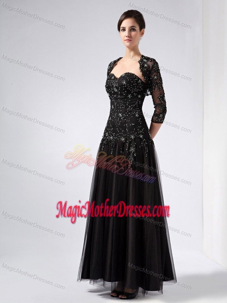 0f9014a077f Sweetheart Black Beading Lace Mother of the Bride Dress in Clifton  Avon