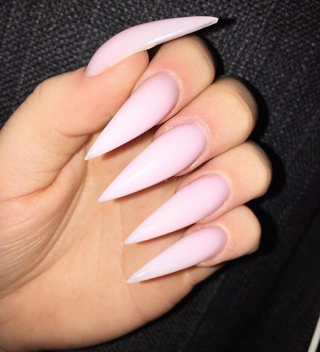 Super Cute Ideas For Summer Nail Art Long Stiletto Nails Pink