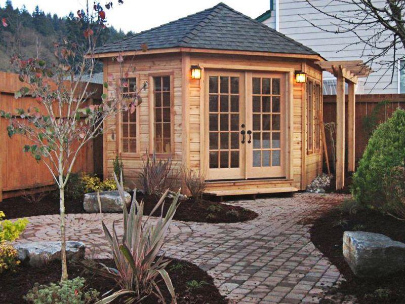 FiveSided Western Red Cedar Corner Shed – 5 Sided Garden Shed Plans
