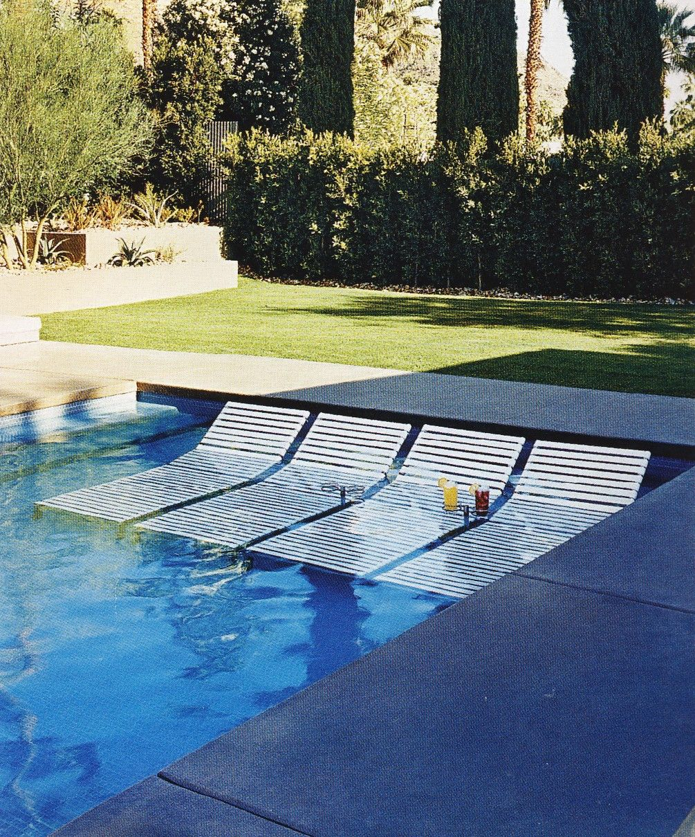 In Water Pool Chairs Fishing Chair Legs Transats Dans La Piscine Sun Loungers The Kimwouters98