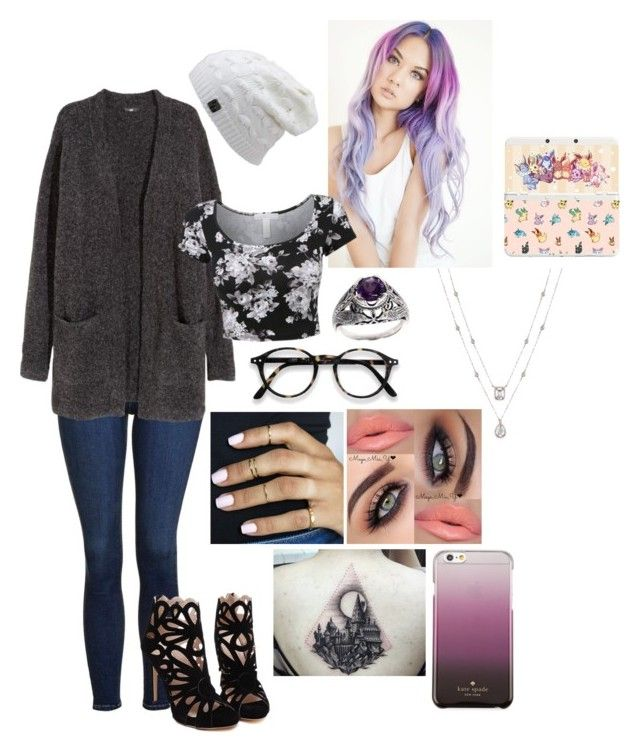 """""""Untitled #548"""" by tacosofimmortality on Polyvore featuring Topshop, H&M, NOVICA, Nintendo and Kate Spade"""