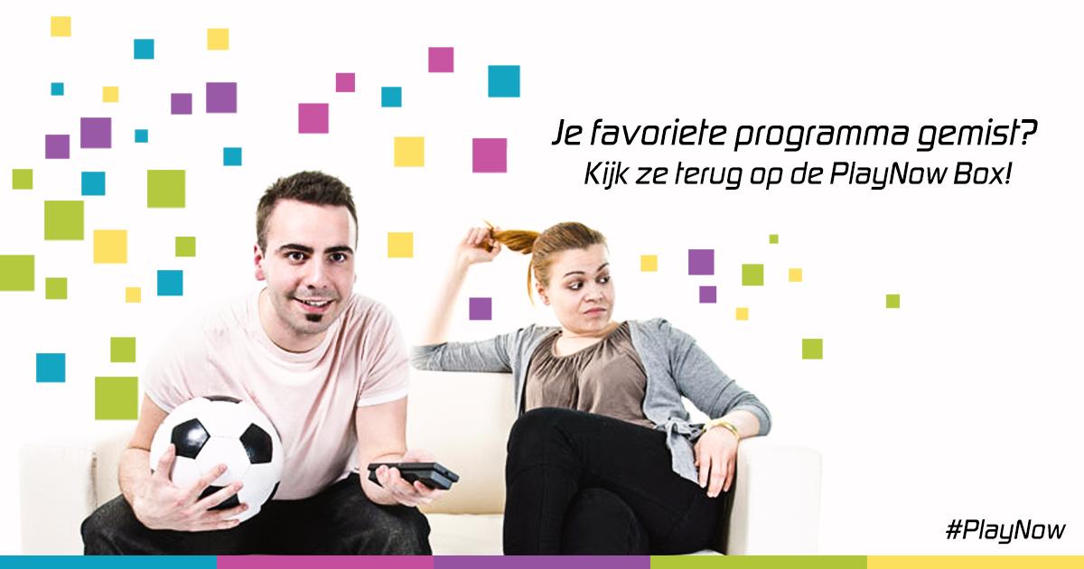 Word jouw favoriete programma uitgezonden op het moment dat jij aan het sporten bent? Of willen je kinderen dat je nog een verhaaltje voorleest? Geen nood, want je kan altijd én overal programma's terug kijken via de #PlayNow Box! Ideaal! Bestel de Box op onze website: http://playnowbox.nl/  Bestel je de Box op werkdagen voor 17:00 uur, dan heb je 'm morgen al in huis!