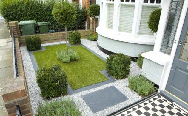 Garten Gestalten Ideen Kieselsteine Sträuche City Style