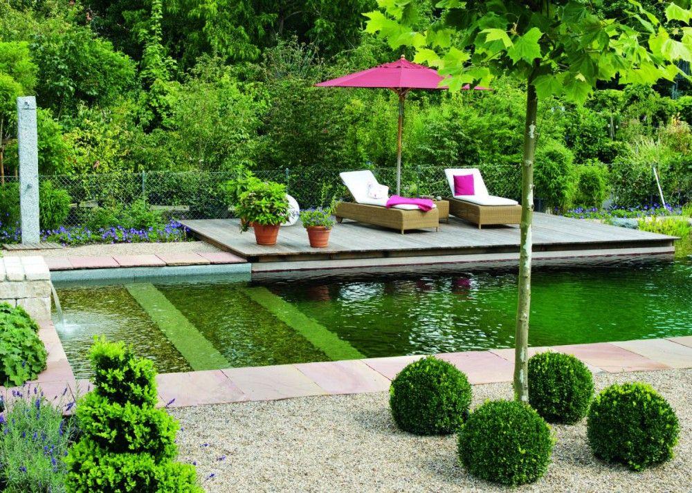 Garten mit Schwimmteich Pool Pinterest Schwimmteich, Gärten - naturlicher bachlauf garten