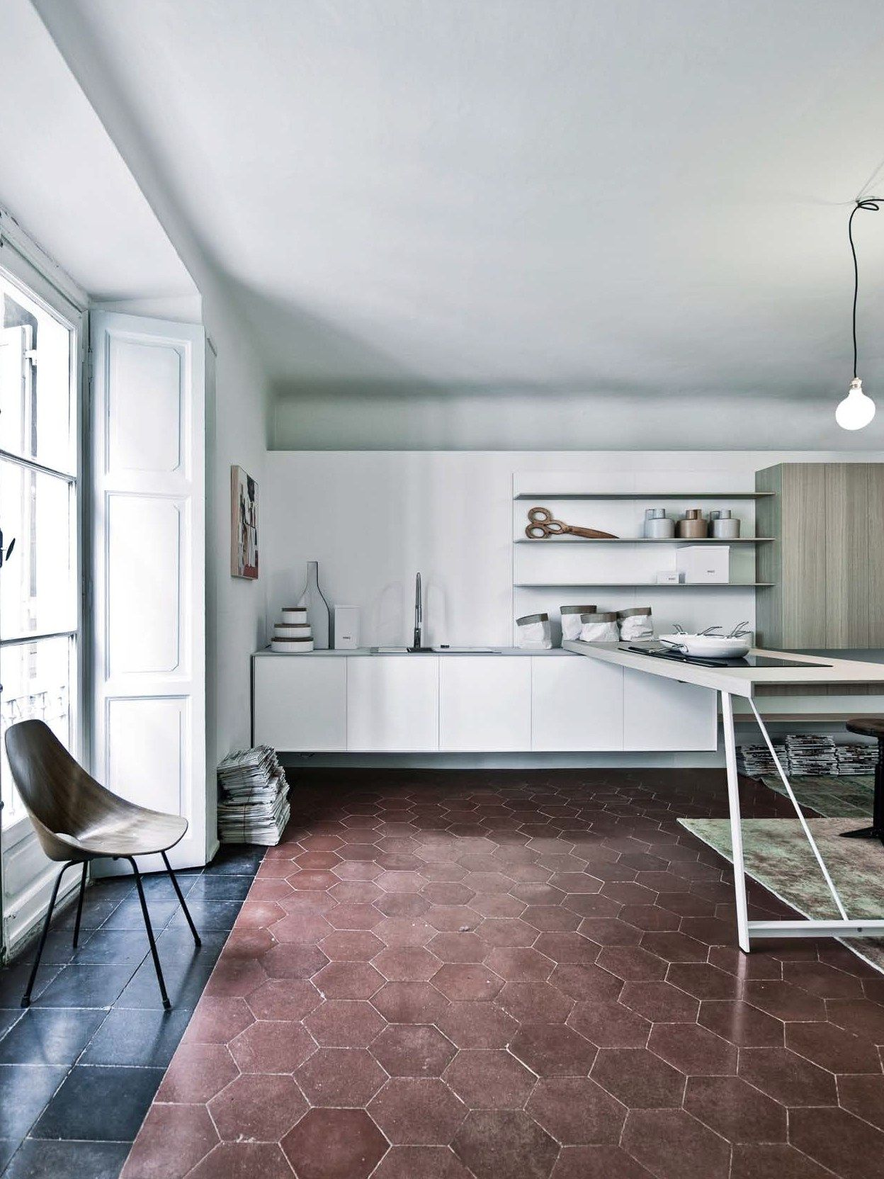 Kitchen With Peninsula Without Handles KALEA   COMPOSITION 8 By Cesar  Arredamenti