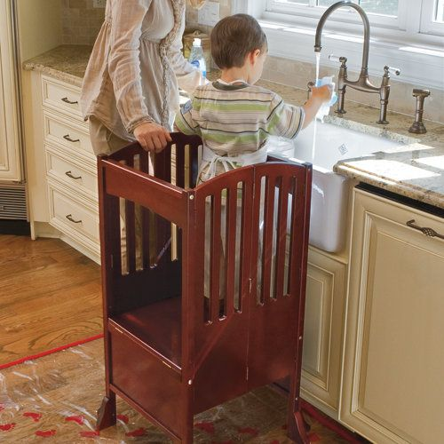 Kids Kitchen Helper Safety Tower Step Stool Love Our