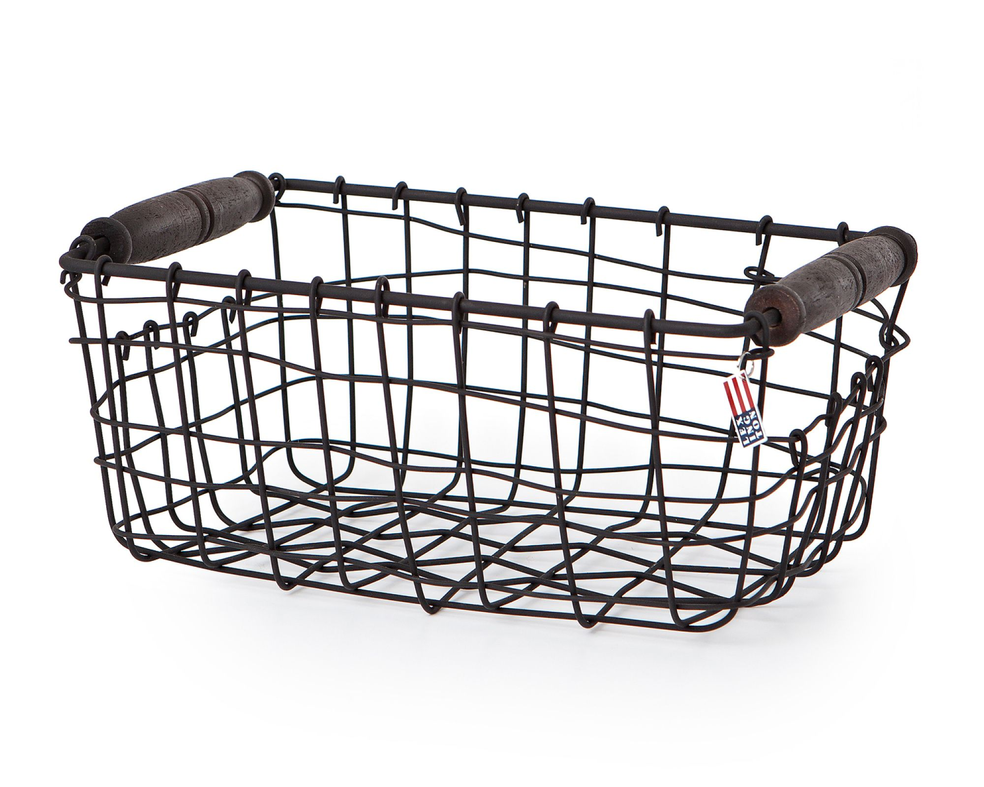 Wire Basket with Wooden Handle, Small | LEXINGTON HOME | Pinterest ...