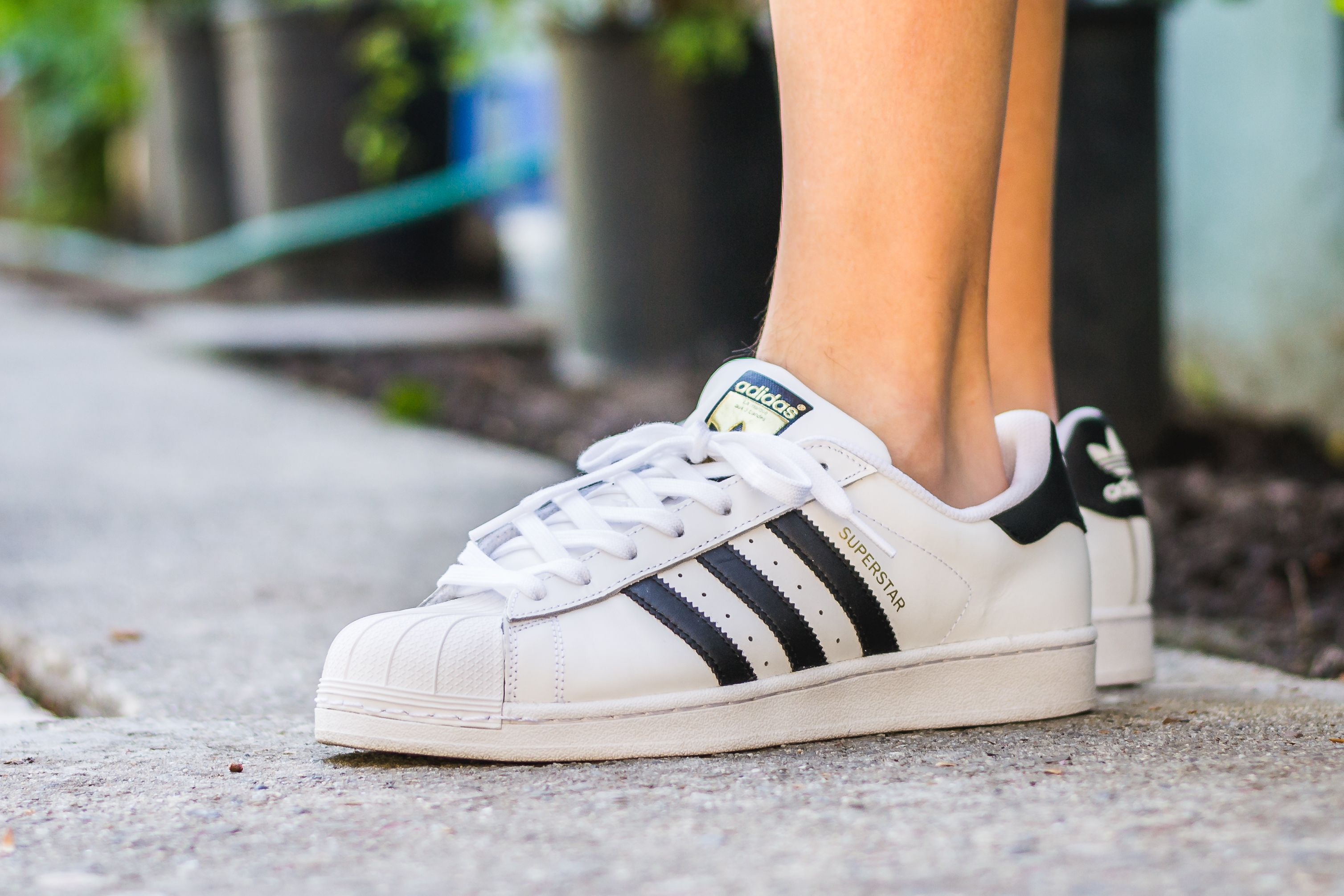 Adidas Superstar White & Black On Feet Sneaker Review