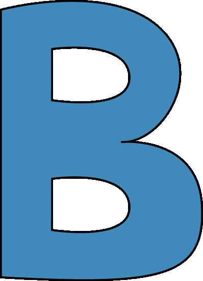 Blue Alphabet Letter B Clip Art Blue Alphabet Letter B Image Letter B Lettering Alphabet Lettering