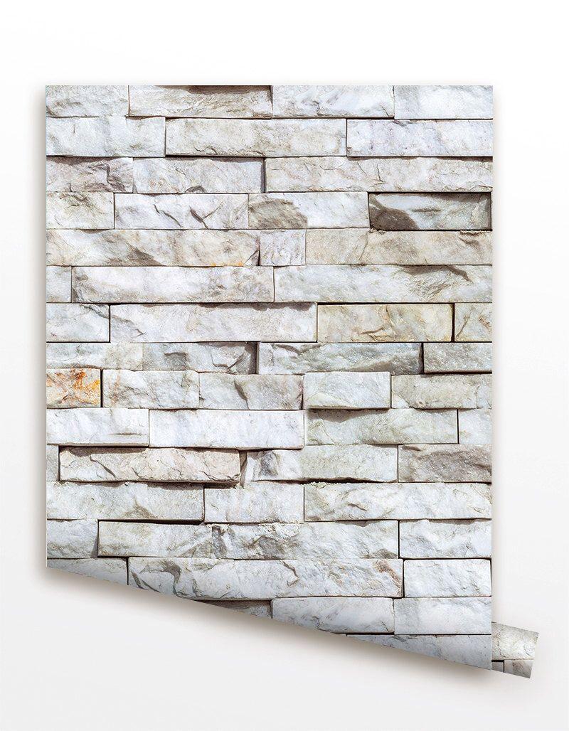 Removable Peel And Stick Fabric Wallpaper Seamless Brick Wall Paper Modern Wall Murals Stone Brick Wallpaper Bedroom Wallpaper Accent Wall Modern Wallpaper
