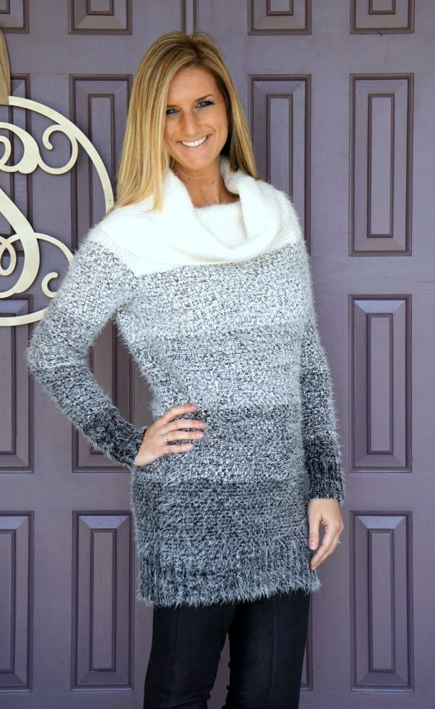 Rd style color block sweater dress