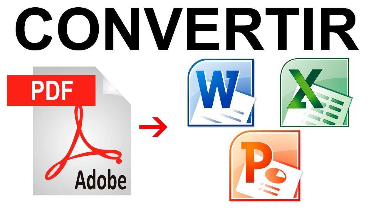 Como Convertir Un Pdf A Word Excel Powerpoint Fácil Y Sin Programas Clases De Computacion Clase De Informática Informática
