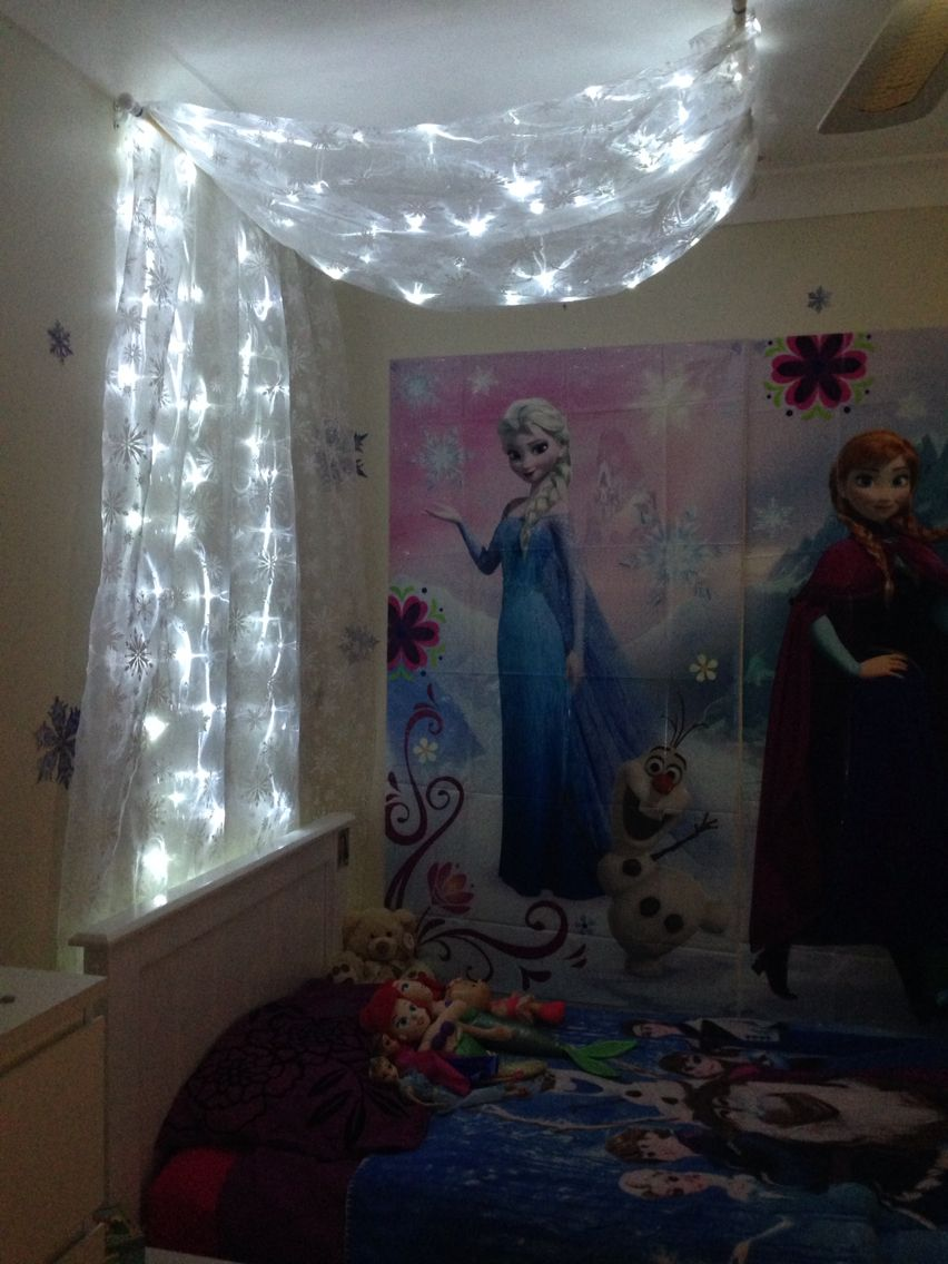 DIY FROZEN bed canopy I made for my daughters room. I have ...