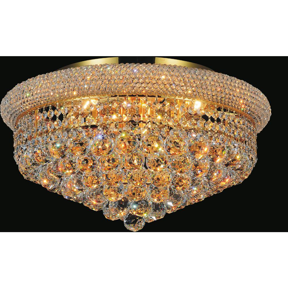 Cwi Lighting Empire 13 Light Gold Flush Mount 8001c24g Ceiling