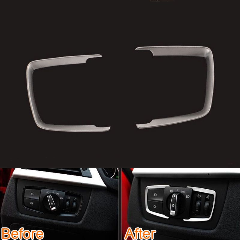 Inner Accessories Head Lamp Light Switch Cover 2pcs