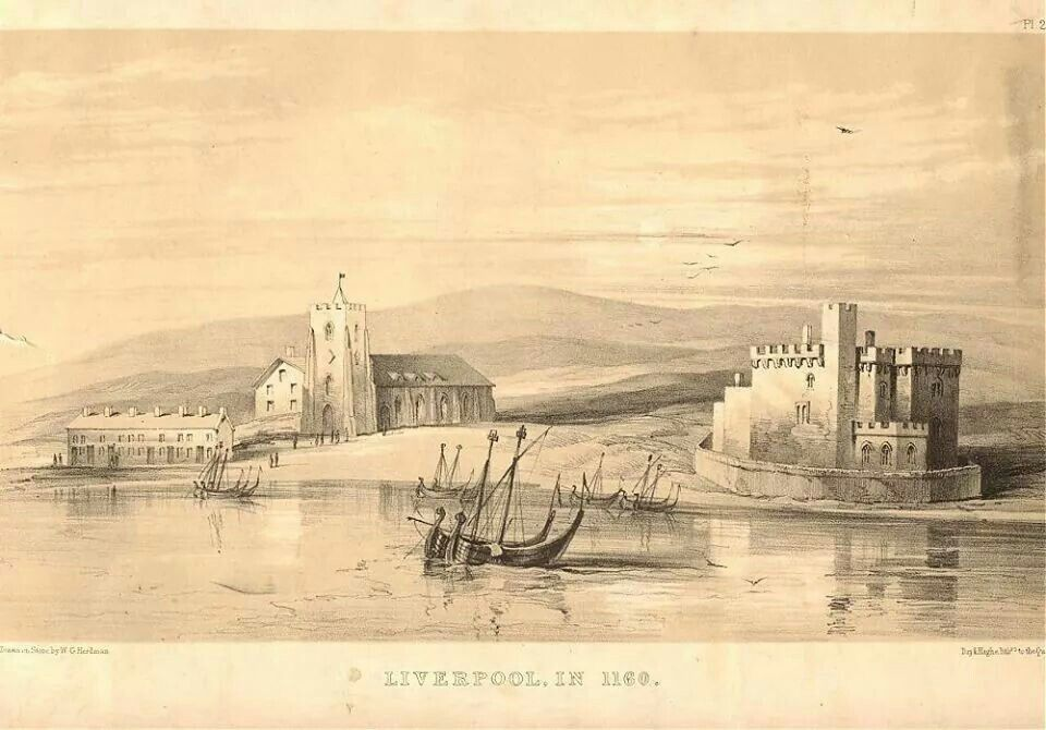 Church of St Nicholas and The Castle, Liverpool 1160