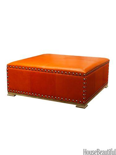 9 Stylish Storage Ottomans | La naranja, Naranja y Amar