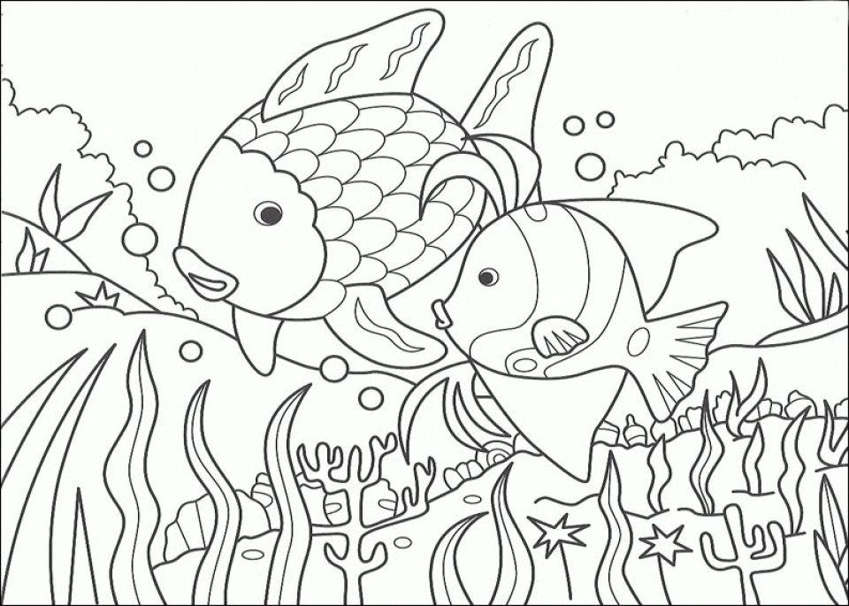 Fish Coloring Page - Kids Learning Activity | Animal ... |Summer Coloring Sheets Fish