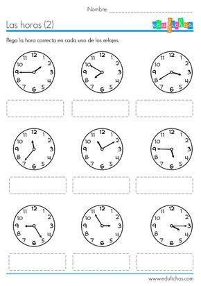 Hojas De Trabajo Para Descargar Con Actividades Del Reloj Ejercicios Sencillos Para Aprender Las Horas Actividades Del Reloj Aprender La Hora Reloj De Agujas