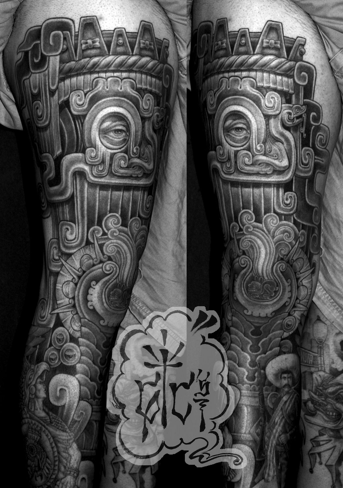 tlaloc leg art tattoos pinterest tattoo latin tattoo and mayan tattoos. Black Bedroom Furniture Sets. Home Design Ideas