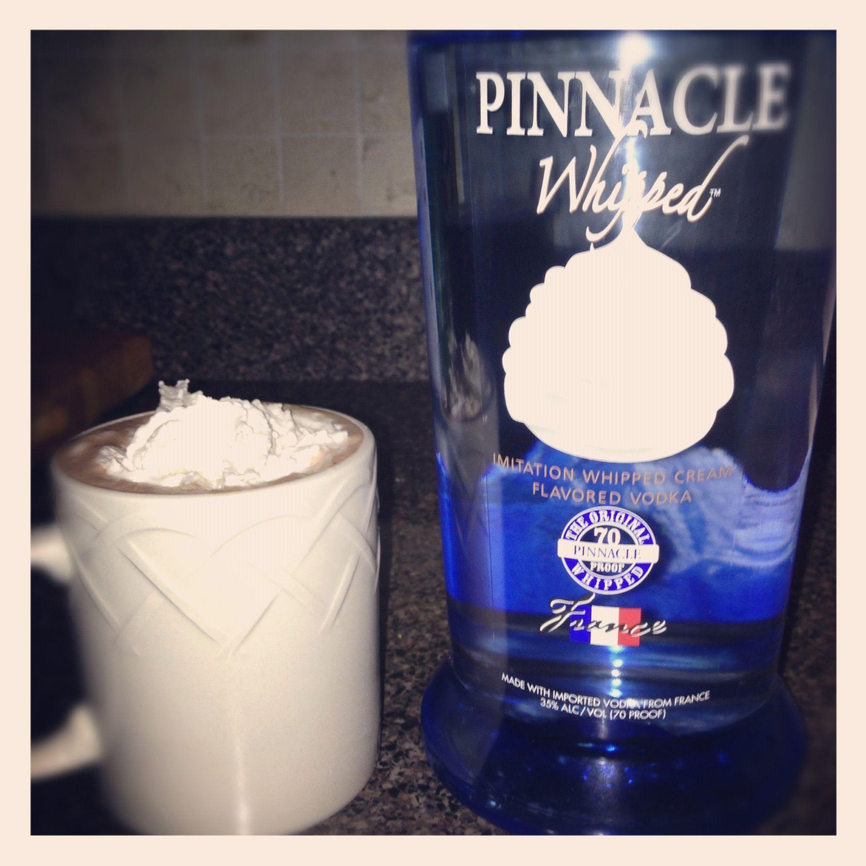 Hot Chocolate + Pinnacle Whipped Cream Vodka= YUM