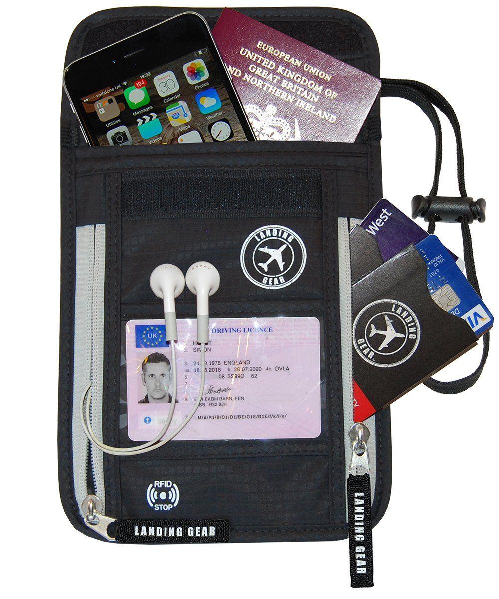 1287b21fe518 Landing Gear Passport Holder Neck Pouch With RFID Blocking The # 1 ...