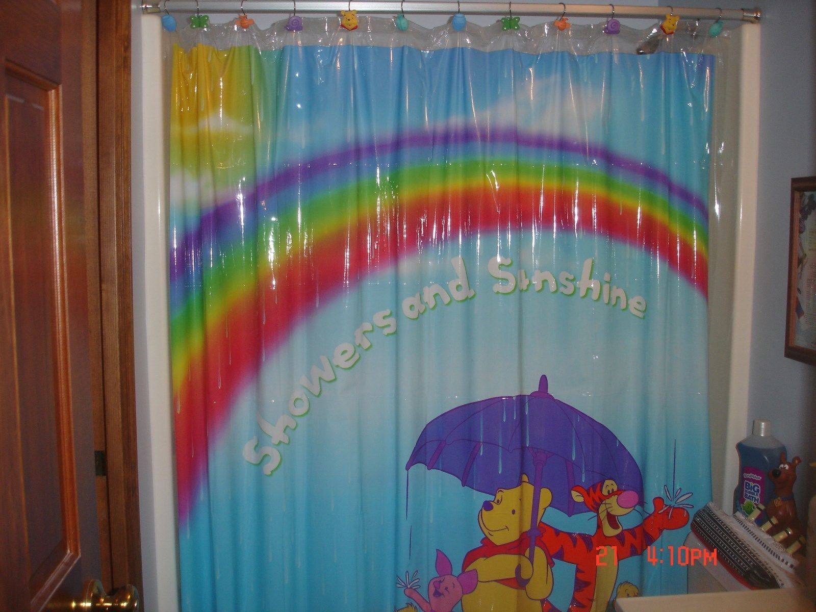 Euc Winnie The Pooh Shower Curtain Hooks And Dixie Cup Dispenser Winnie The Pooh Pooh Bear Pooh